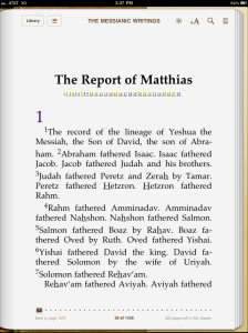 Good News According To The Report, Gospel, Good News According To Matthias